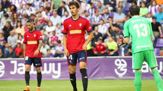 Lucas Torró, en el partido de Valladolid de junio de 2018.