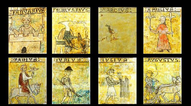 El calendario de San Martín de Ardanaz de Izagaondoa.