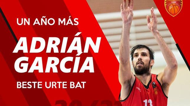 Adrián García, un año más en Basket Navarra.