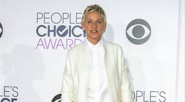 foto de La presentadora de televisión Ellen DeGeneres.