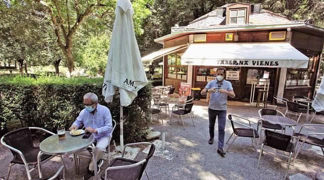 El Café Vienés, en el parque de la Taconera.