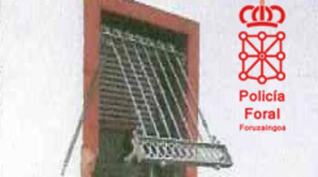 foto de Ventana por la que accedieron a la vivienda para realizar el robo