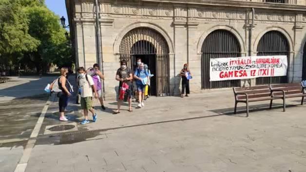 Los trabajadores de Siemens Gamesa finalizan su encierro en San Lorenzo