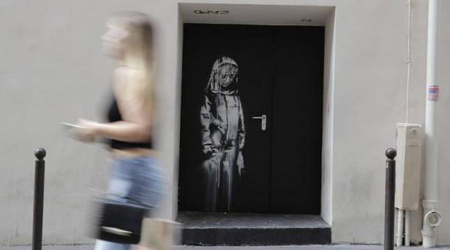 Foto de 'La niña triste', de Banksy, en una foto de archivo.