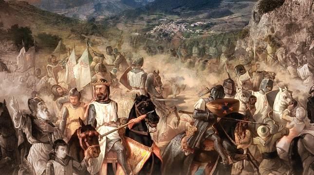 Recreación de la batalla de Valdejunquera por el pintor Francisco de Paula Van Halen.