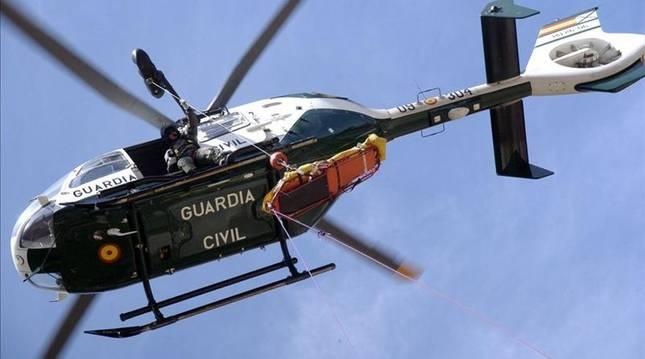 Helicóptero de rescate de la Guardia Civil.