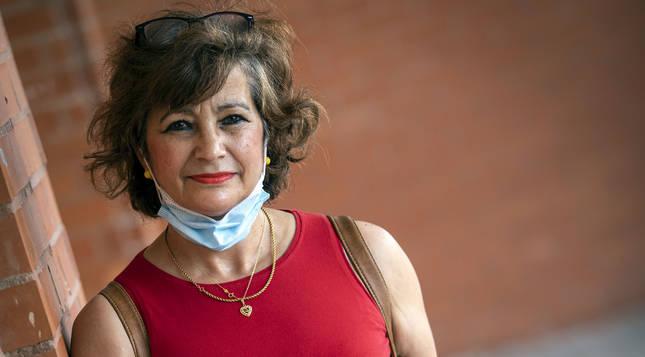 Foto de Caridad Jerez Valero, nacida en Albacete y afincada en Pamplona desde 1985.
