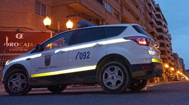 Foto de un vehículo de la Policía Municipal de Tudela.