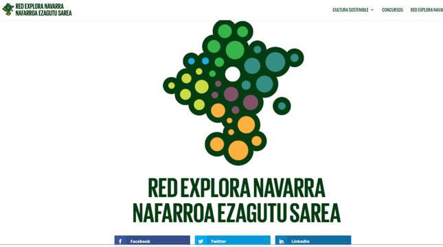 Imagen de la web de Red Explora Navarra.