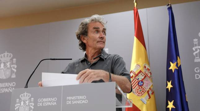 Fernando Simón durante una rueda de prensa para informar de la evolución de la COVID-19.