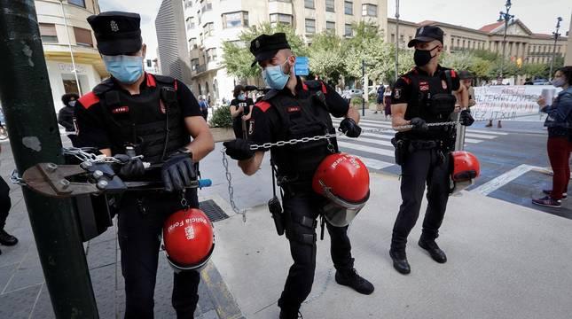 Protesta de trabajadores de Gamesa en Pamplona