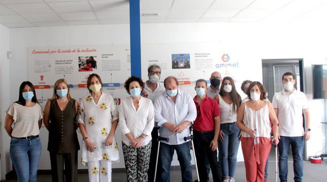 Foto de la visita de la consejera del Gobierno de Navarra, Mari Carmen Maeztu, a Amimet (Tudela).