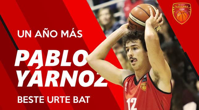 El navarro Pablo Yárnoz renueva con Basket Navarra