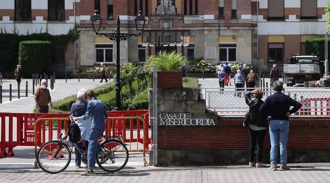 Exterior de la Misericordia de Pamplona, donde están permitidas las visitas con cita previa y las salidas.