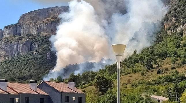 Incendio en Etxauri.