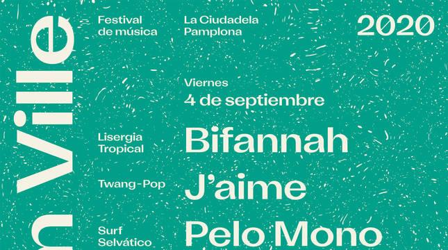 Cartel del Festival Pim Pam Ville 2020.