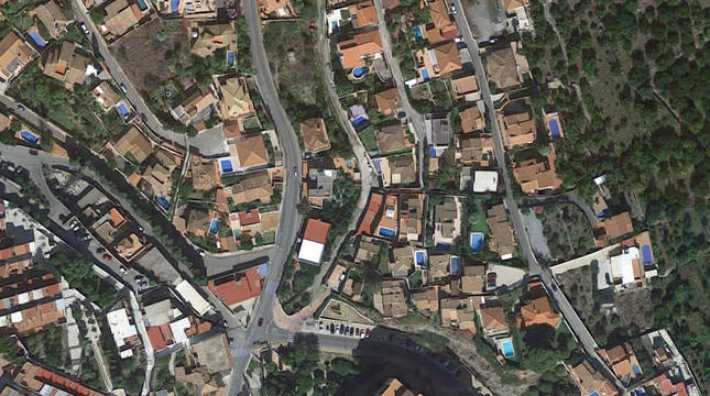 Imagen aérea del Barrio de los Marinos, en Almuñécar.