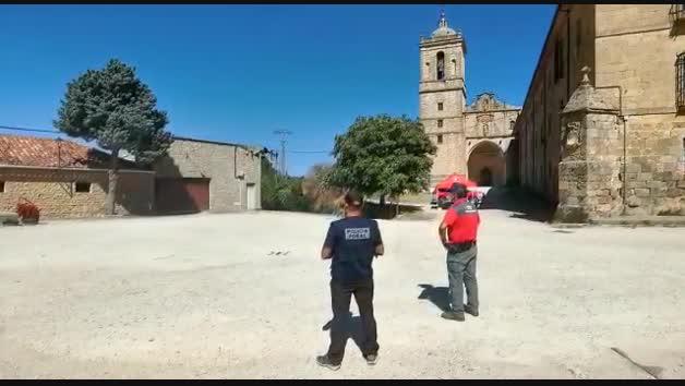 Policía Foral vigila el Camino de Santiago en Navarra con drones