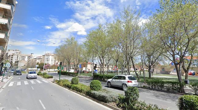 Foto de la Avenida de Zaragoza de Tudela.