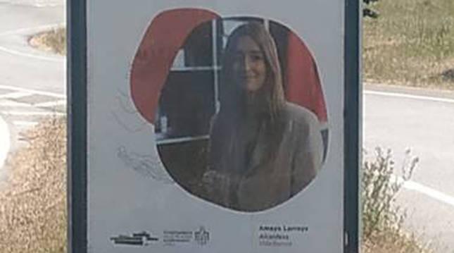 Imagen del cartel de la campaña de apoyo al comercio local criticado por el PSN del Valle de Egüés.