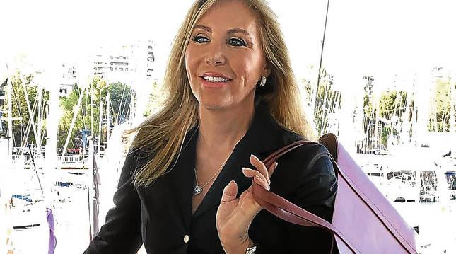 La vedette, posando en el Club Náutico de Palma en julio de 2019.