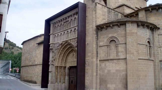La iglesia de Santa María la Real situada en la localidad de Sangüesa.