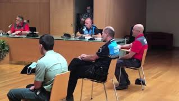 Reunión de la Junta de Seguridad tras la suspensión de las fiestas de Tafalla