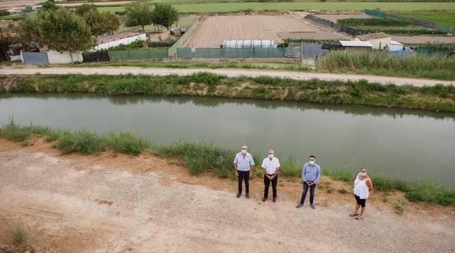 Cabanillas dispondrá de un paseo peatonal a lo largo del canal de Tauste