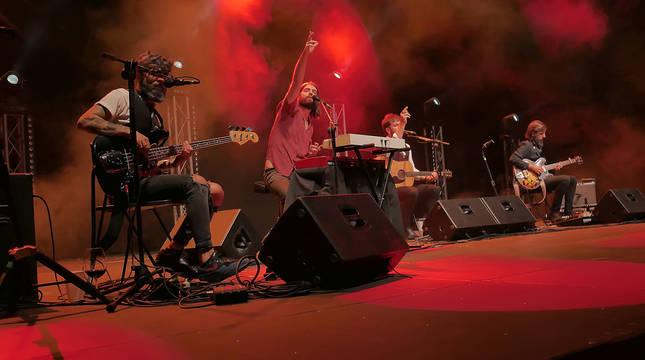 Viva Suecia, durante el concierto del sábado en la Ciudadela.