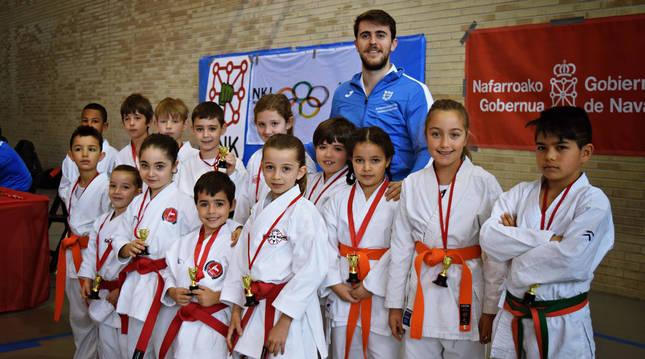 Campeonato navarro de Kata benjamín de los Juegos Deportivos de Navarra del curso pasado.