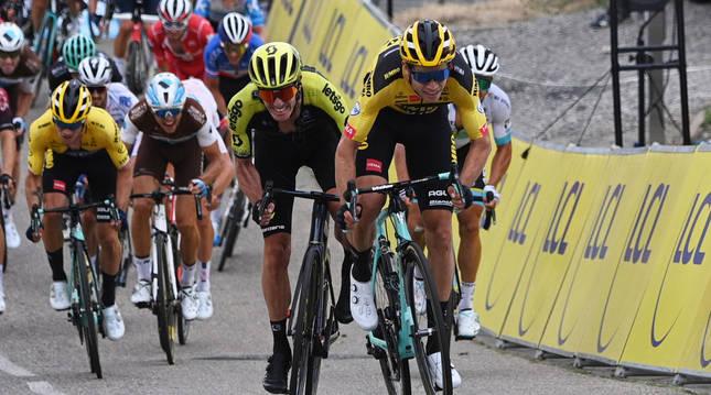 El ciclista belga Wout Van Aert en la primera etapa del Dauphiné.