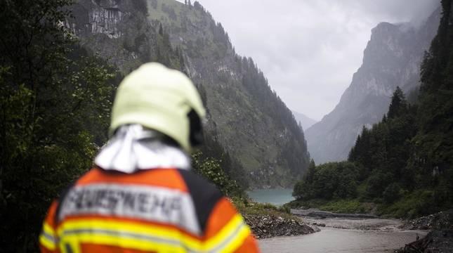 Imágenes del lugar del accidente de los montañeros navarros en Suiza