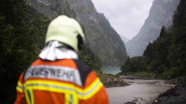 Dos navarros fallecidos y uno desaparecido mientras practicaban barranquismo en el este de Suiza
