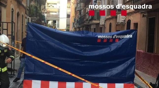 Foto facilitada por los Mossos d'Esquadra del lugar del suceso.