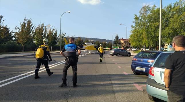 Policía Municipal y Bomberos, en el lugar del suceso.