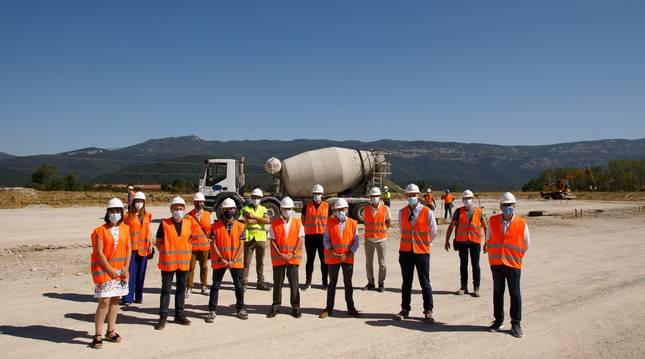 Foto a las obras de la planta de compostaje de la Mancomunidad de Sakana.