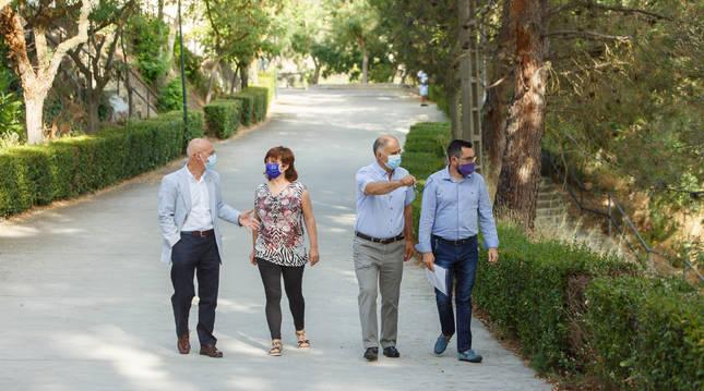 De izda a dcha: Ciriza, Echávarri, Mangado y Rodríguez