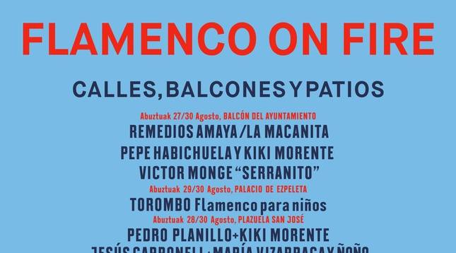Cartel del ciclo 'Calles, Balcones y Patios' del festival Flamenco on Fire 2020.