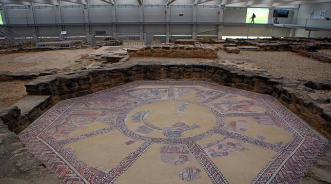 Mosaico de las musas en la Villa romana de Arellano.