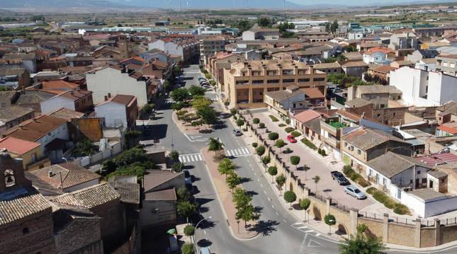 Imagen del exterior del pabellón municipal de Ribaforada.