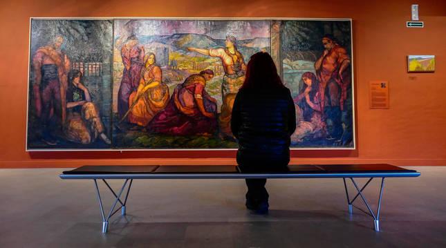 El cuadro La tierra Ibérica del pintor alavés Gustavo de Maeztu.