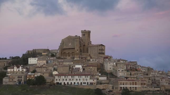 Vista general de la localidad de Ujué, en Navarra