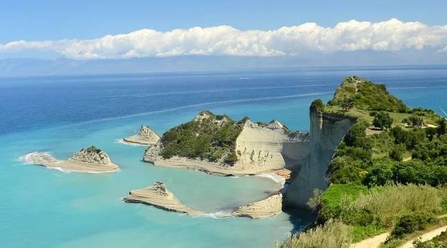 Vista panorámica de la isla de Corfú, en Grecia