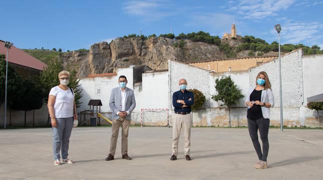 Foto de Olcoz, Ciriza, Rodríguez y Fernández.