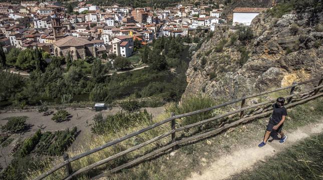 Vista desde lo alto de uno de los senderos de la localidad realizada este mes de agosto.