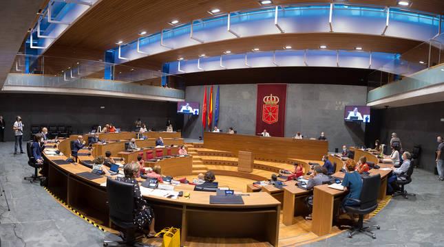 Pleno del Parlamento de Navarra este jueves.