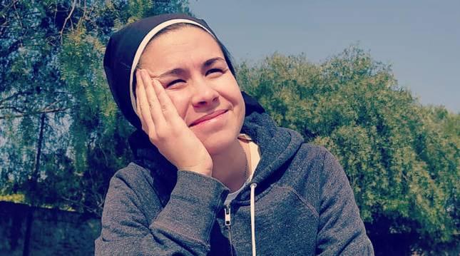 Foto cedida por Josefina Cattaneo, la joven monja que triunfa en tik tok,