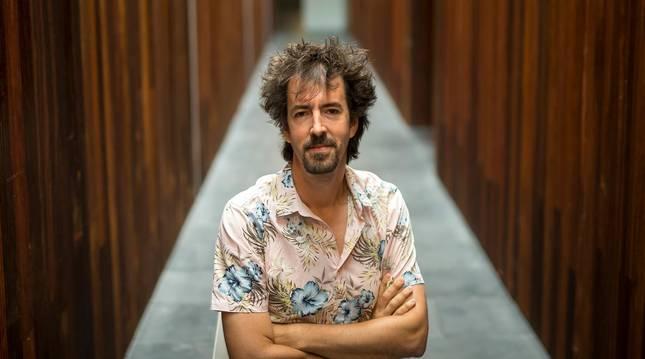 Foto de Félix Viscarret, en las entrañas del Baluarte, donde participó en el evento Conecta Fiction que tiene lugar estos días.