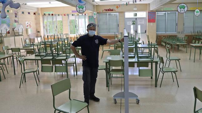 foto de Preparativos para el inicio de curso con medidas anti Covid en el Colegio Hilarión Eslava
