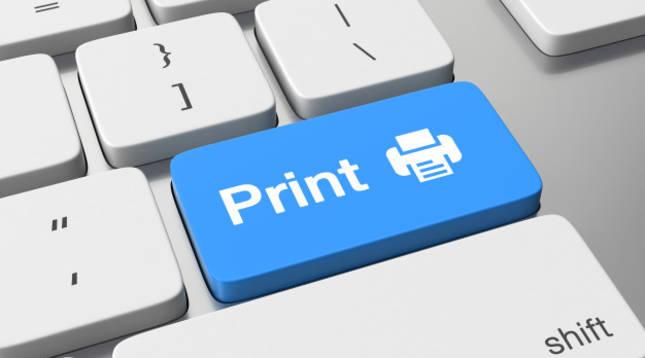 Imagen de la tecla de impresión en un teclado de ordenador